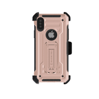 Ghostek Iron Armor2 Military Grade Case with Holster Belt Clip Designed for IPhone XS Max – Rose