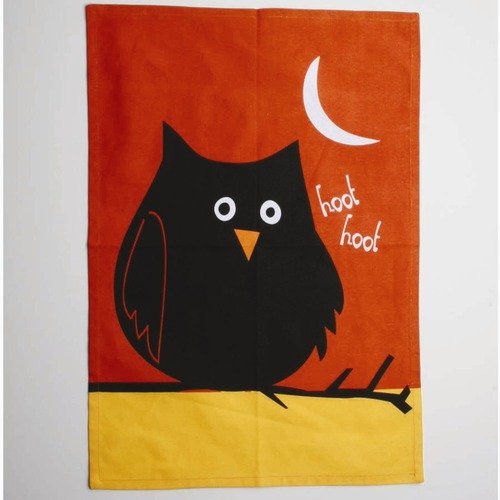 TAG Spooky Party Night Owl Dishtowel