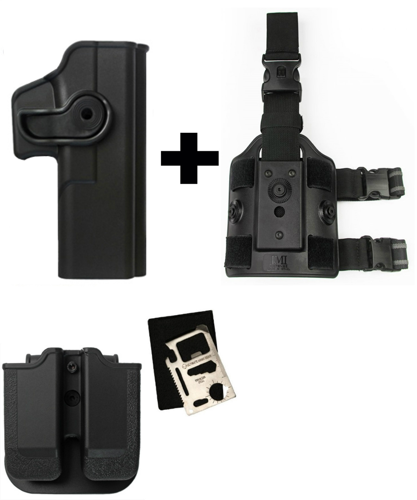 IMI Defense Z2020 MP02 Double Mag Holder & Paddle + Z1050 Rotate Holster Glock 20 21 28 30 37 38 Right Hand Gen 4... by