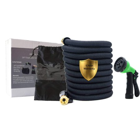 25ft Expandable Garden Hose with Double Latex Core, 3/4