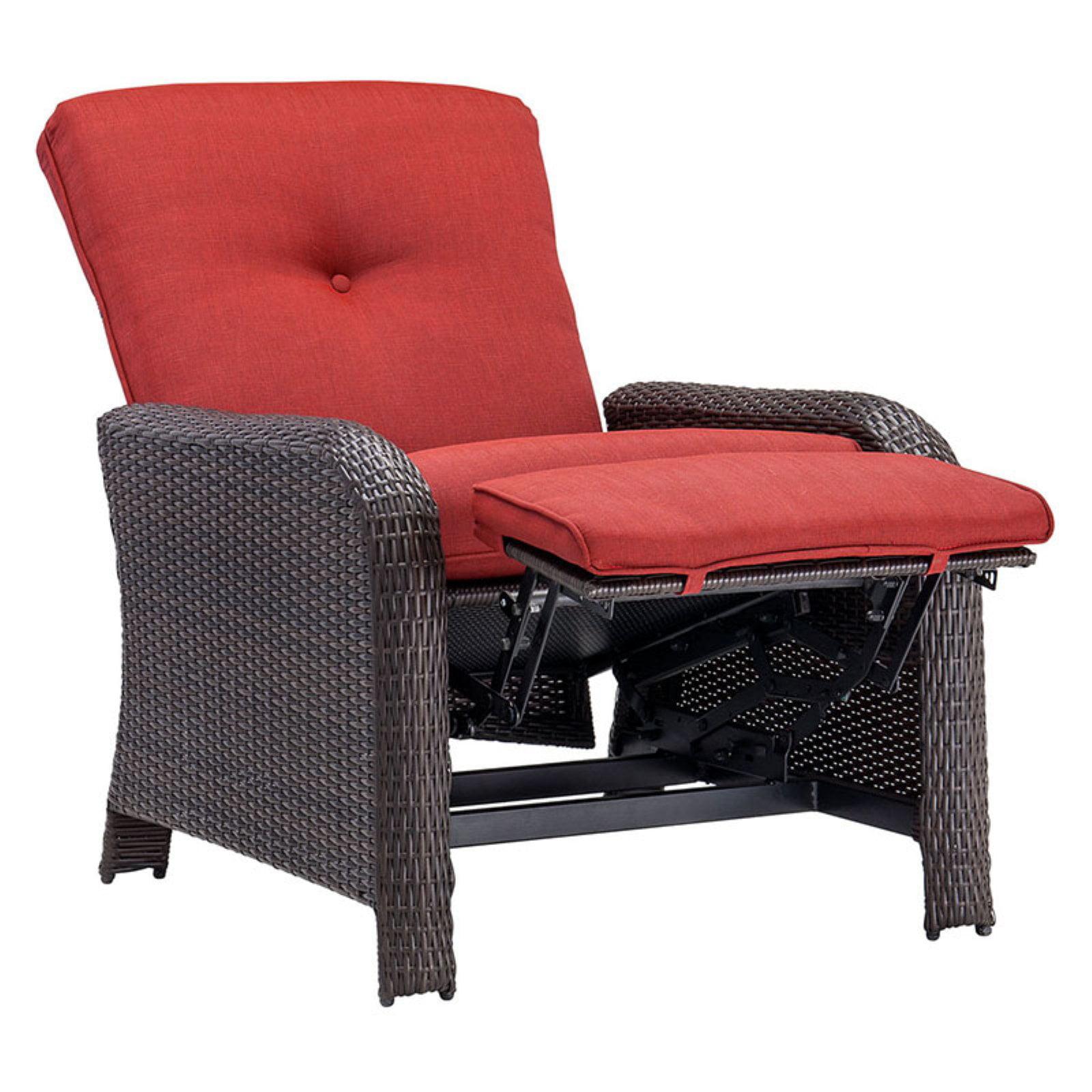 Outdoor Luxury Recliner, Crimson Red