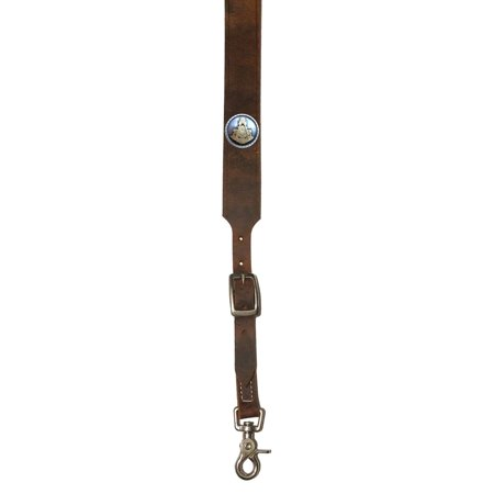 Custom Masonic Past Master Leather suspenders in Bay Apache Brown. Made in the USA