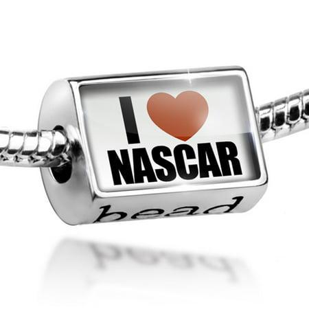 - Bead I Love NASCAR Charm Fits All European Bracelets