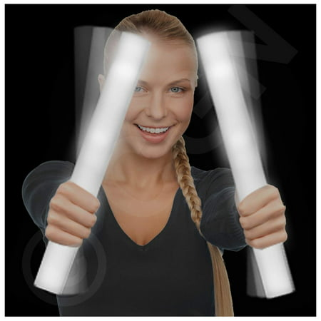 Lumistick LED Foam Baton Cheer Stick | Light Up Flashing Glowing Illuminate for Weddings, Parties, and Dancing Toy
