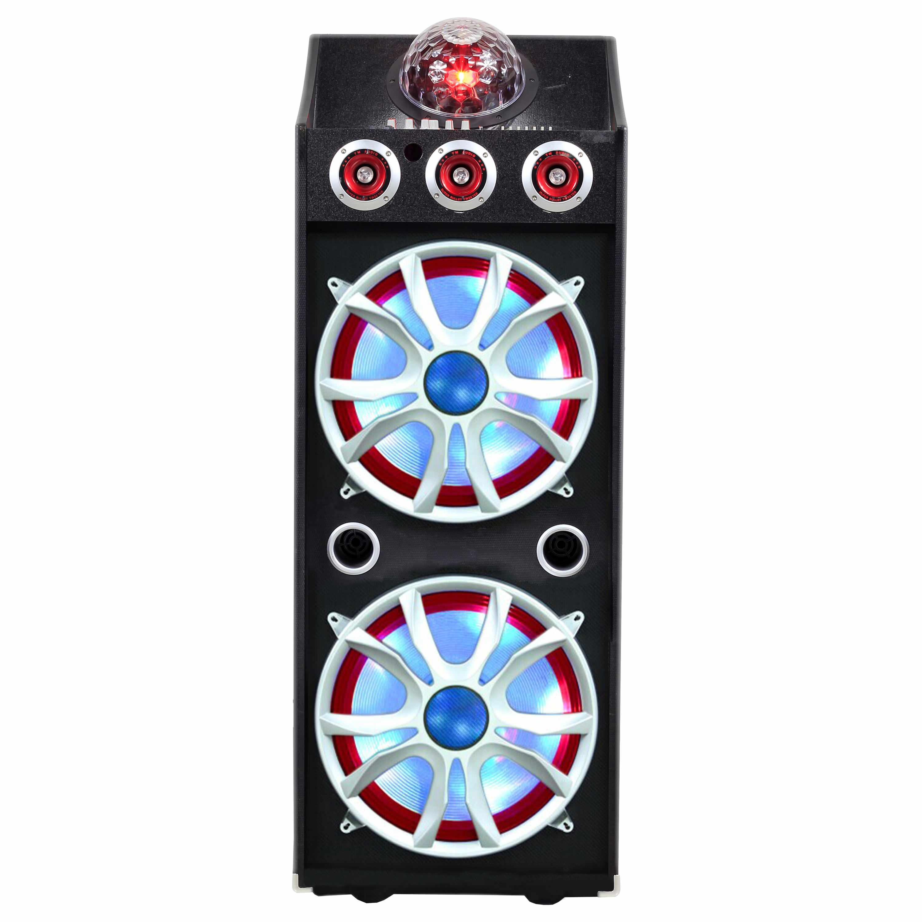 "2 x 15"" BT Professional DJ Speaker with Disco Lights"