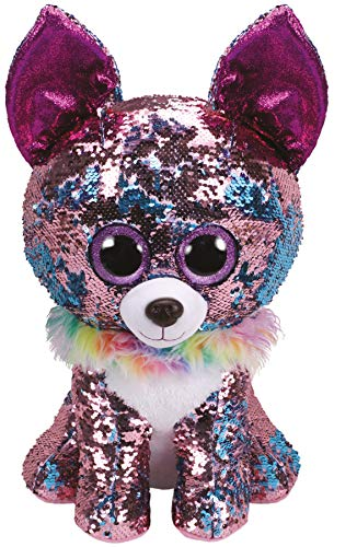 ty chihuahua yappy sequin flippable purple beanie boos walmart plush inch flippables