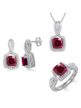 ac74e7adc Product Image 3pcs Created Red Ruby and Diamond Accent Ensemble, ROB