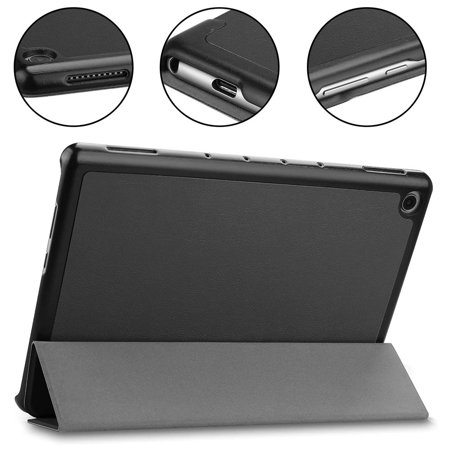Huawei MediaPad M5 Lite 10 Case - Slim&Lightweight PU Leather Cover with Magnetic Bracket Designed for Huawei MediaPad M5 Lite 10.1 inch Tablet - Black - image 6 of 9