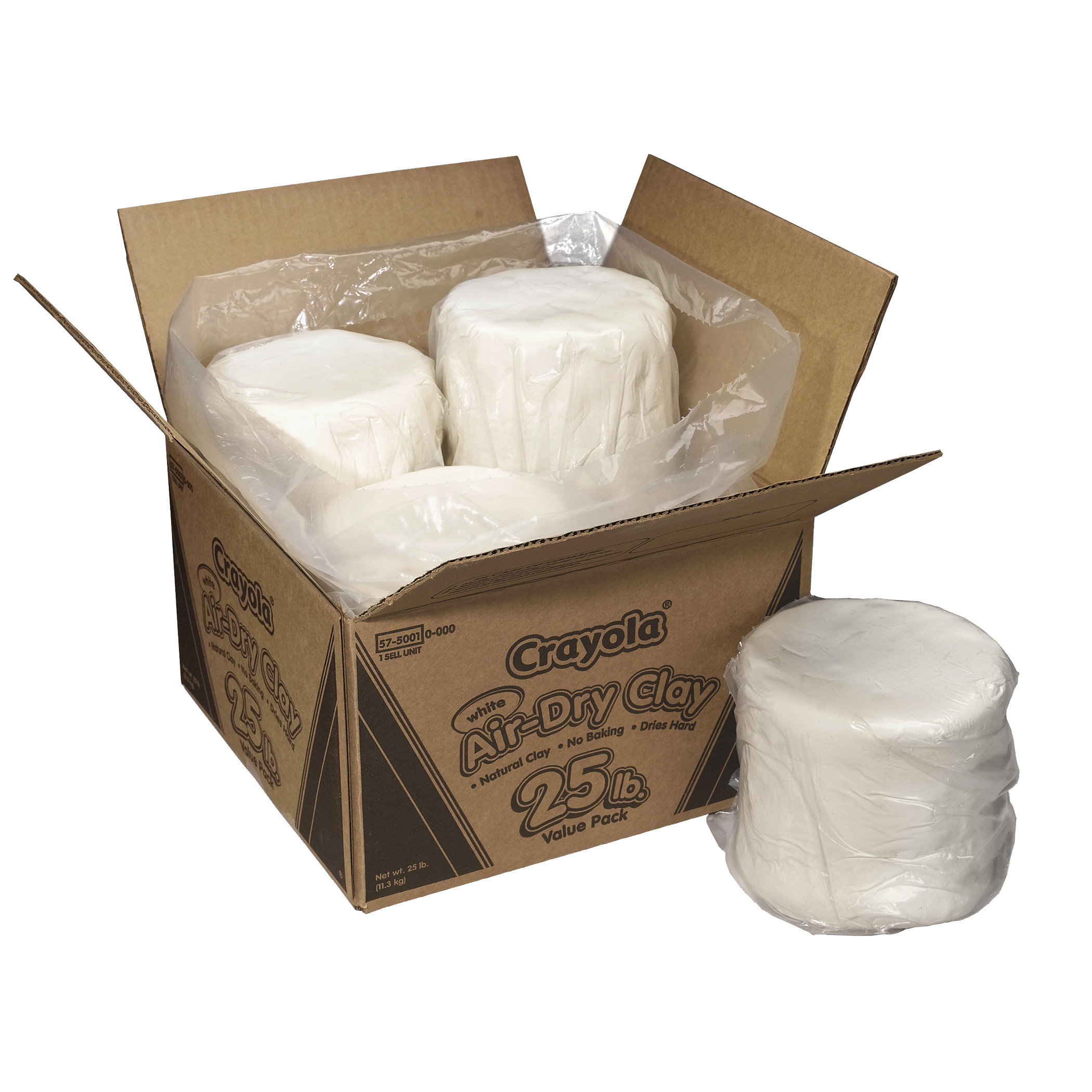 Crayola® Air-Dry Clay, 25 lb. Box, White