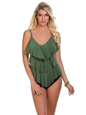 b40241e317047 Product Image Magicsuit Women's Magic Solids Rita Tankini Top Ocean Blue  16. Miraclesuit