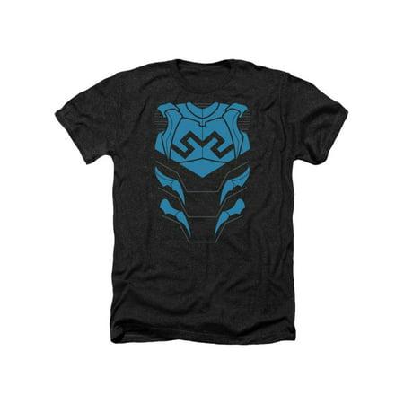 Justice League Of America DC Blue Beetle Armor Costume Adult Heather T-Shirt Tee](Beetle Costume)