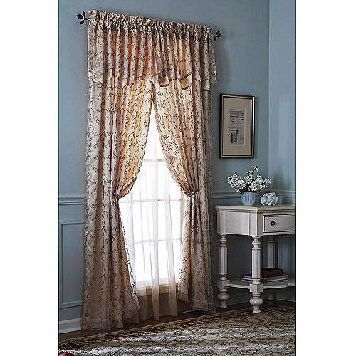 """***DISCONTINUED*** Better Homes and Gardens Heather 84"""" Length Rod Pocket Top Window Curtains"""