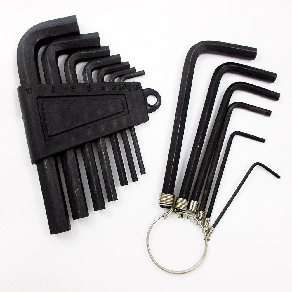 13pc Metric Hex Key Allen Wrench Set Long Short Arm End W/ Holder Sae Set Tools