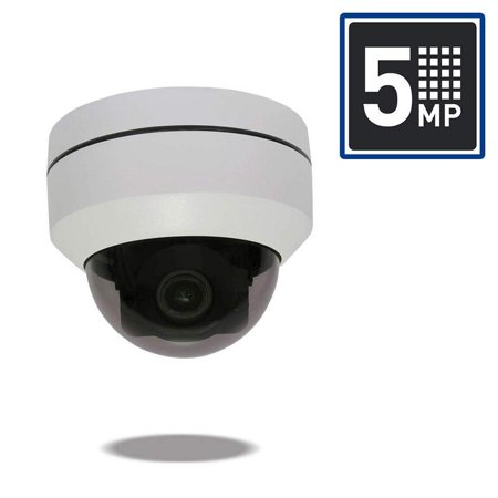 Appear USA Brand 5 Megapixel 3.05 - 15.5mm 5X Optical Zoom PTZ Dome IP PoE Security Camera with Super High Definition, IP67, Waterproof, IR, Night Vision - White ()