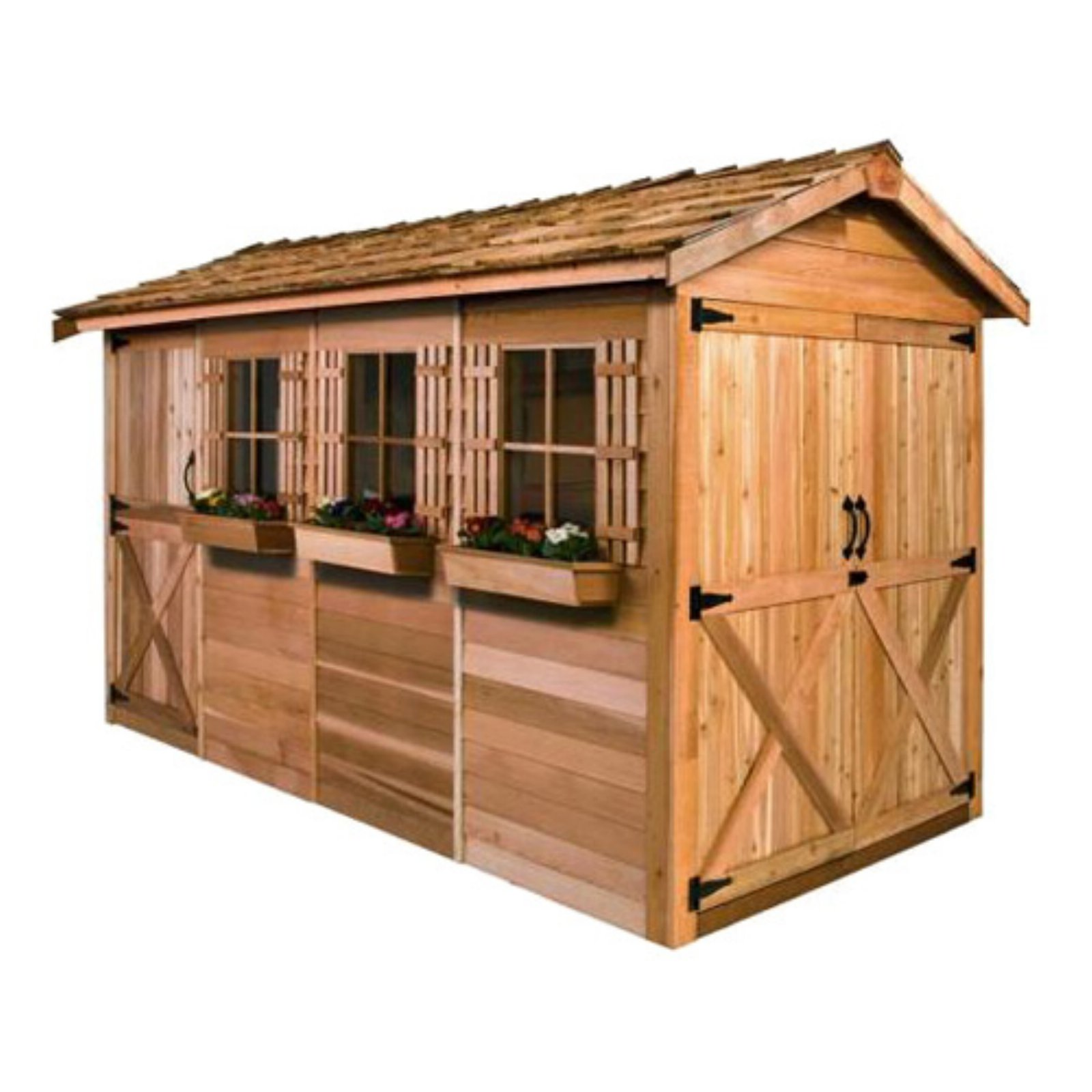 Cedar Shed 12 x 8 ft. Boathouse Garden Shed