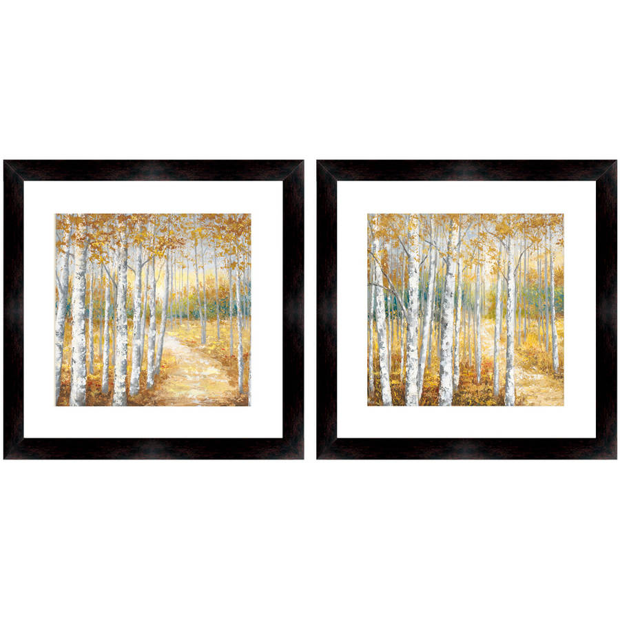 "Autum Forest Wall Art, 14"" x 14"", Set of 2"