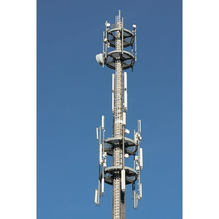 Laminated Poster Communication Remote Login Mast Radio Mast Antenna Poster Print 24 X 36