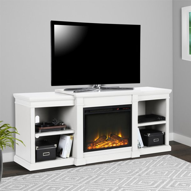 """Ameriwood Home Manchester Electric Fireplace TV Stand for TVs up to 70"""" Multiple Colors"""