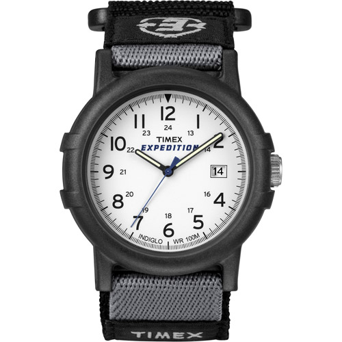 Timex Men's Expedition Camper Watch, Black Fast Wrap Velcro Strap