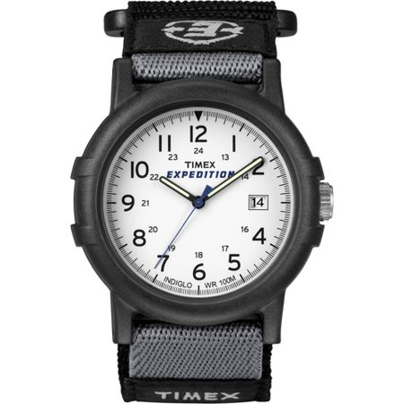 Timex Mens Expedition Camper Watch  Black Fast Wrap Velcro Strap
