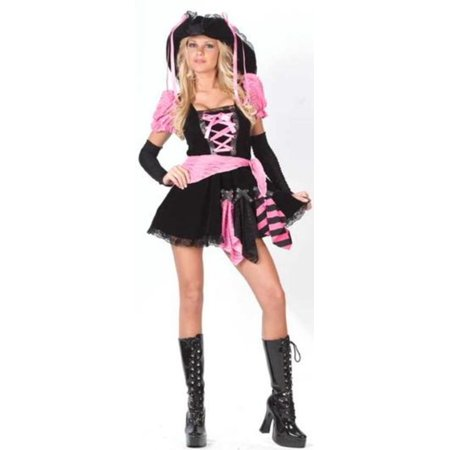 Pink & Black Punk Pirate Juniors Halloween Costume Size 0-9 #1689 for $<!---->