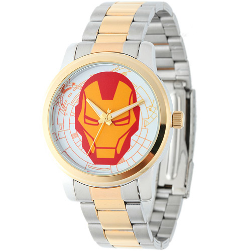 Marvel Iron Man Men's Casual Alloy Watch, Two-Tone Bracelet