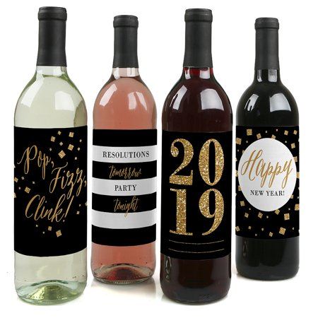 new years eve gold 2019 new years eve party wine bottle labels set