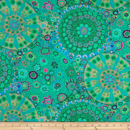 Typar Fabric (FreeSpirit Fabrics Kaffe Fassett Collective Meadow Millefiore Fabric by the Yard, Jade, Fabric type: 100% Cotton By Free Spirit Fabrics)