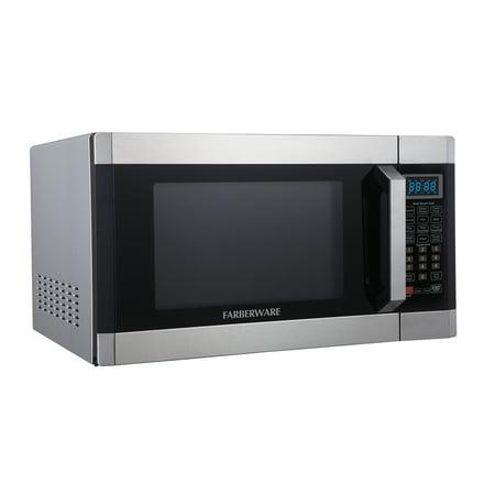 Farberware 1 6 Cu Ft 1100 Watt Microwave With Smart Sensor