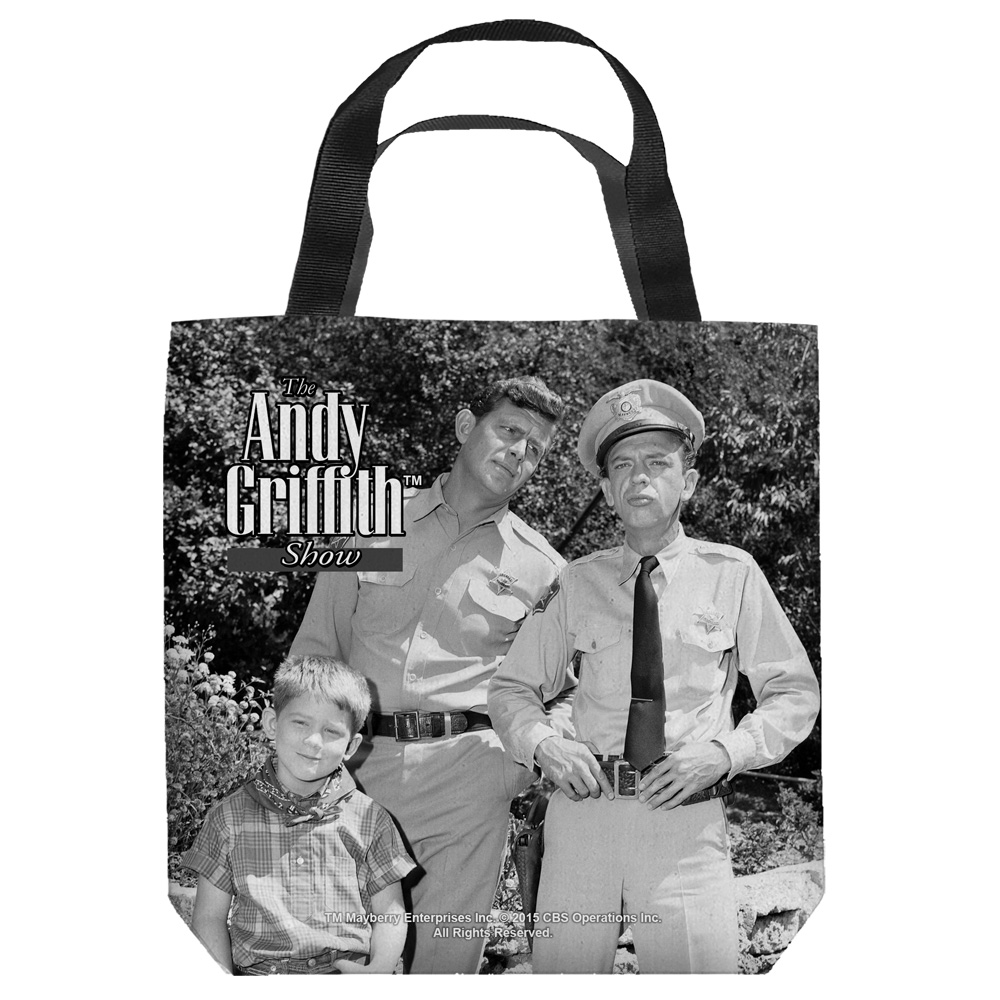 Andy Griffith Lawmen Tote Bag White 18X18