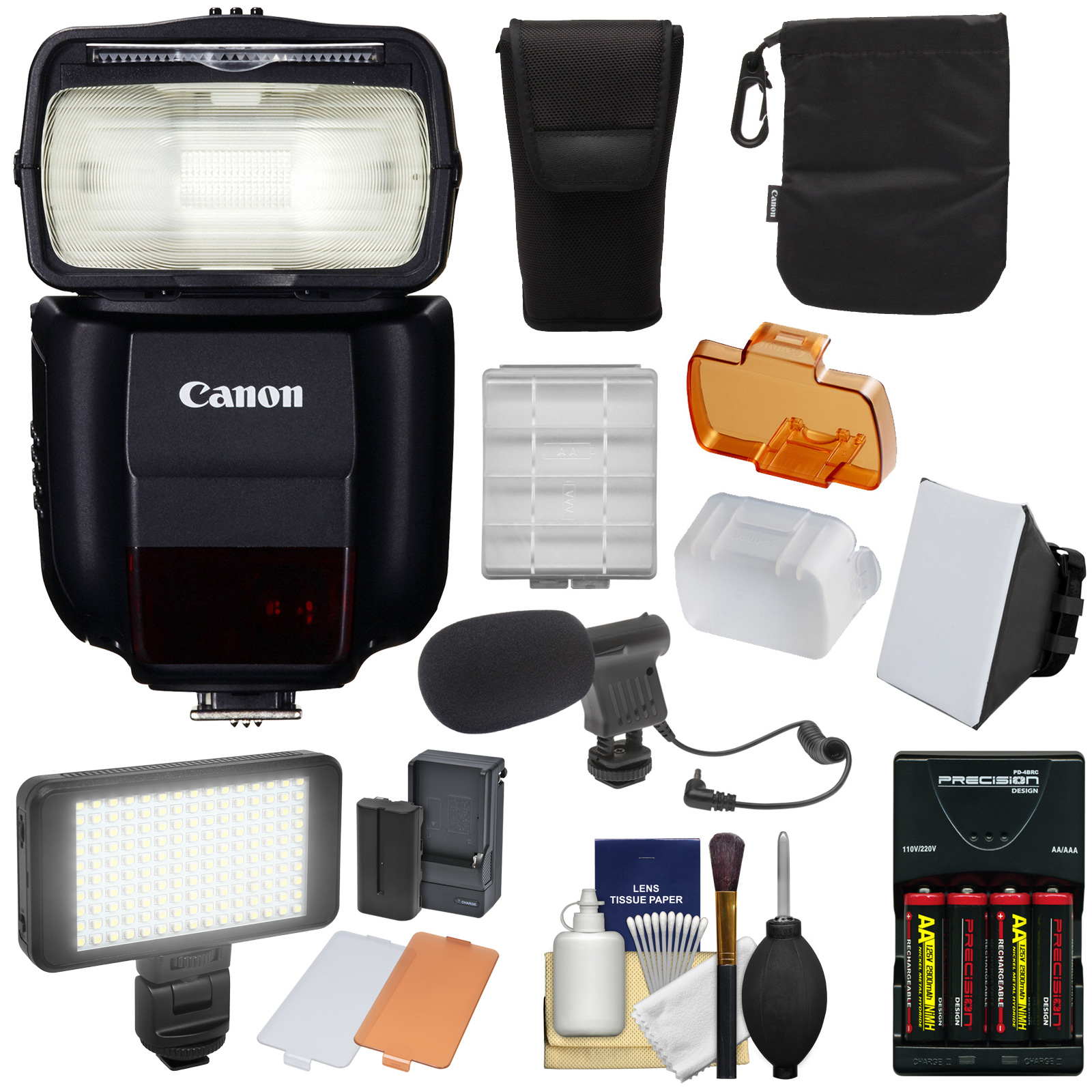 Canon Speedlite 430EX III-RT Flash with Soft Box + Batter...