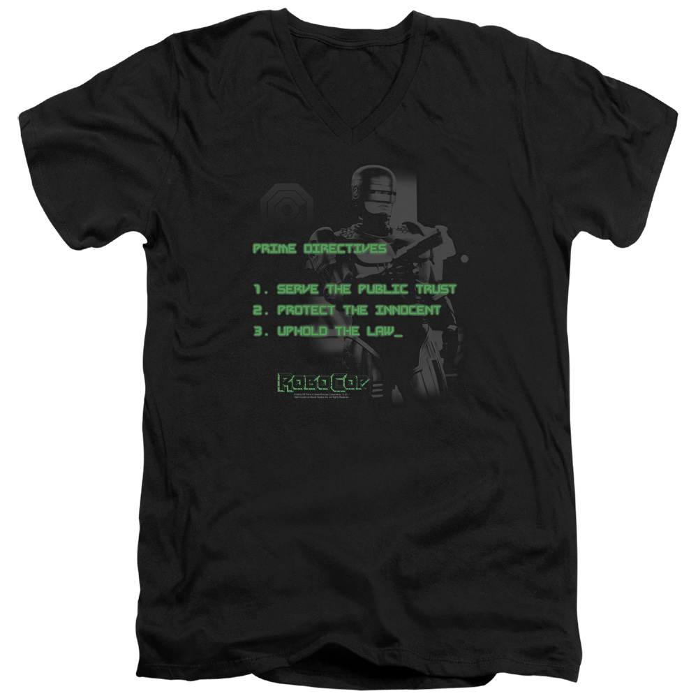 Mgm Robocop Prime Directives Mens V-Neck Shirt