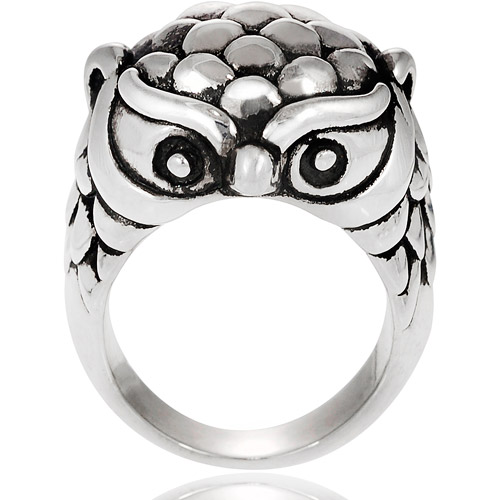 Brinley Co. Sterling Silver Owl Ring