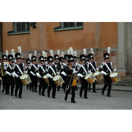 14 Marching Band (Canvas Print Marching Band Sweden Band Stretched Canvas 10 x)