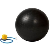 Strength Exercise Stability Ball Gym Balance Ball Balance Chair Fitness Chair Stability Ball Chair Pregnancy Ball with Pump 65cm Black,.., By Bespolitan Sports