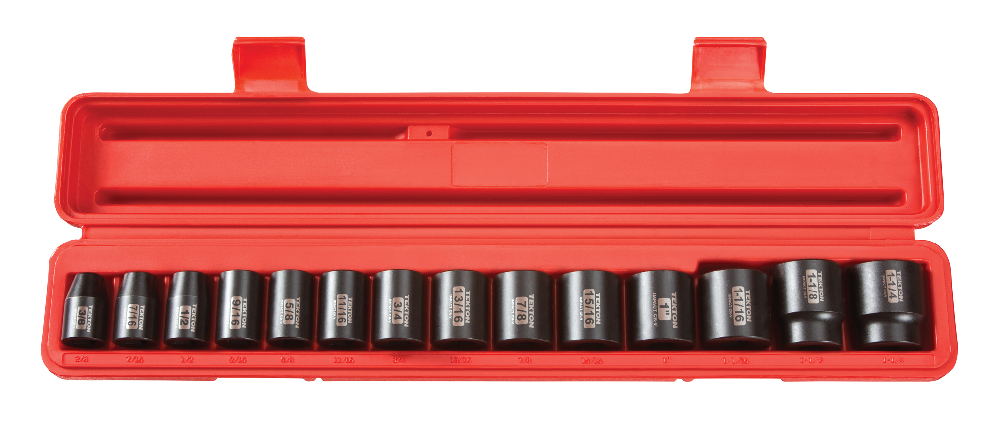 TEKTON 1 2-Inch Drive Shallow Impact Socket Set, Inch, Cr-V, 6-Point, 3 8-Inch 1-1 4-Inch,... by TEKTON