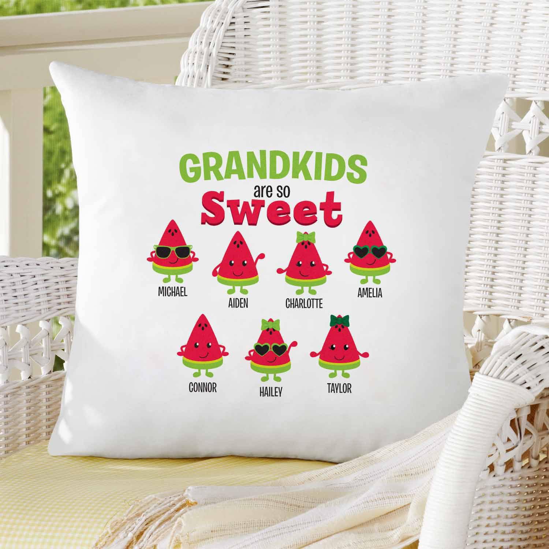 Personalized Sweet Watermelon Treats Pillow
