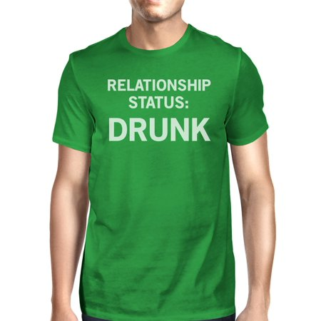 Relationship Status Men's Green Crew Neck T-Shirt Funny Graphic