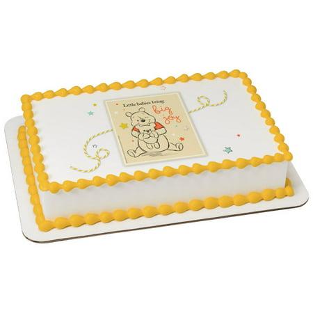 Winnie the Pooh Big Joy 1/4 Sheet Image Cake Topper Edible Birthday Party