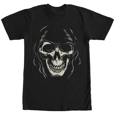 Men's Halloween Grim Reaper Face T-Shirt - Halloween Grim Face