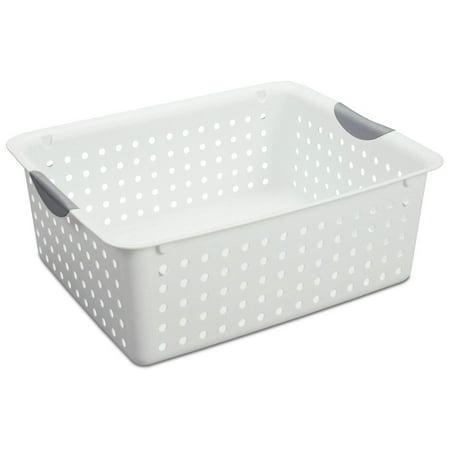 Sterilite Large Ultra Storage Organizer Basket (6 Pack) + Stacking Bins (6 Pack) - image 5 de 11