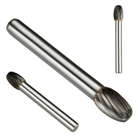 Unique Bargains5/16-inch Head 6mm Round Shank Tungsten Carbide Oval Shape Rotary (Oval Shaped Heads)