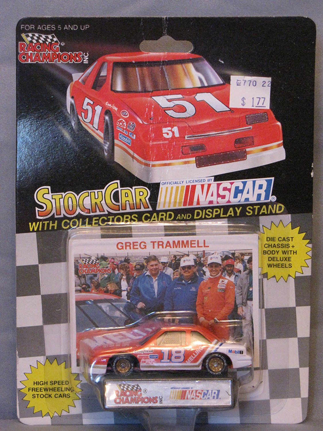1991 Racing Champions . . . Greg Trammell #18 Melling Automotive Products 1 64 Diecast . .... by