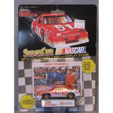 1991 Racing Champions . . . Greg Trammell #18 Melling Automotive Products 1/64 Diecast . . . Includes Collectors Card and Display Stand, By Nascar from USA