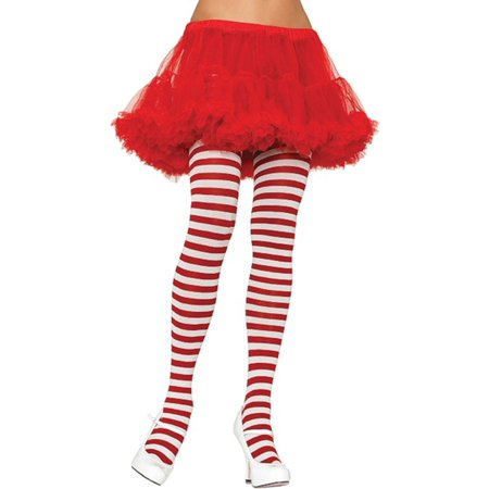 Morris Costumes Womens Stretch Striped Tights Red White One Size, Style UA900RD - Red White Stripe Tights