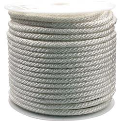 Rope King 1/2 in. x 300 ft. Solid Braided Nylon Rope White