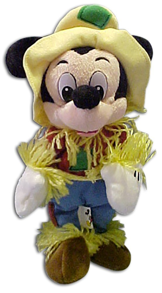 Disney Plush Scarecrow Halloween Stuffed Toy, approximately 8 high By Mickey Mouse by
