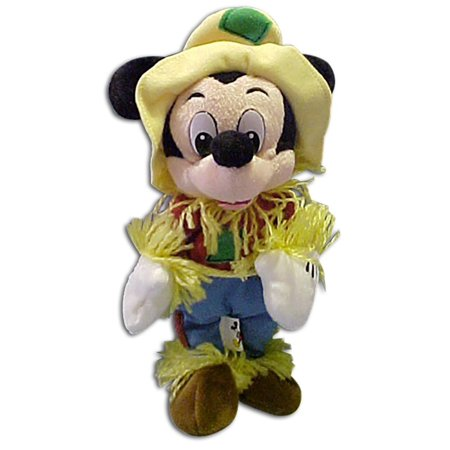 Disney Plush Scarecrow Halloween Stuffed Toy, approximately 8 high By Mickey Mouse (Mickey Mouse Halloween Stencil)