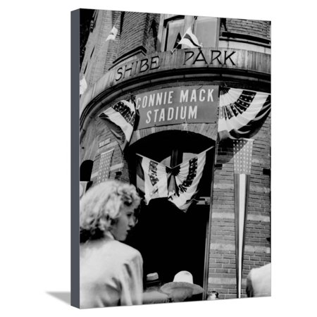 Connie Mack Stadium, Formerly Shibe Park, Philadelphia, Pennsylvania Stretched Canvas Print Wall Art