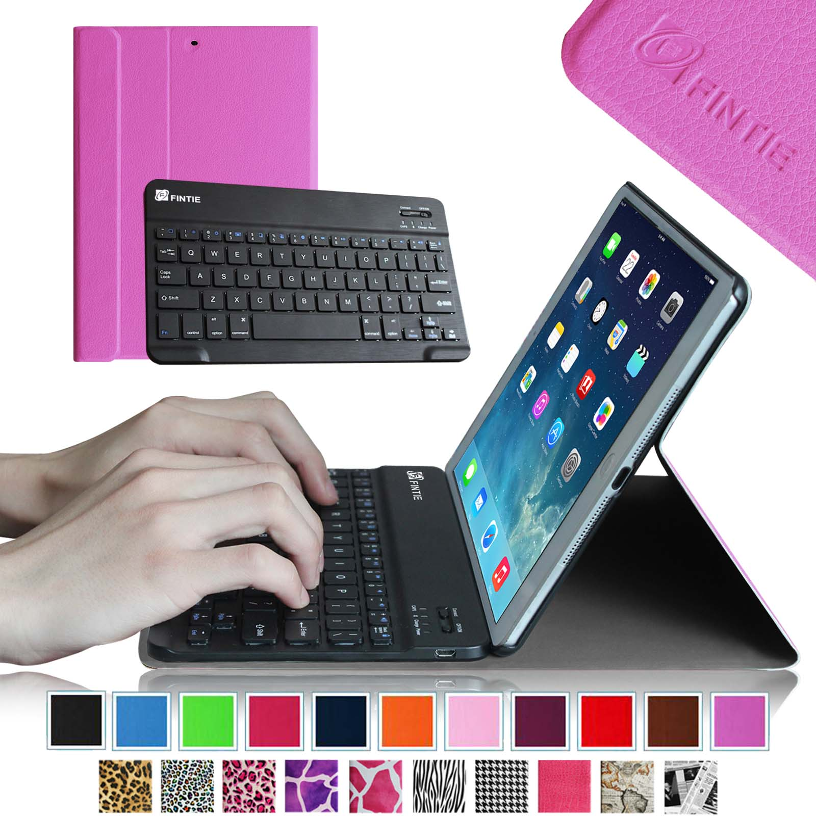 Fintie SmartShell Cover with Wireless Bluetooth Keyboard Case for Apple iPad Air / iPad 5 (5th Generation), Violet